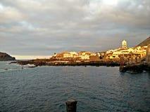 Tenerife solnedgång Arkivbild
