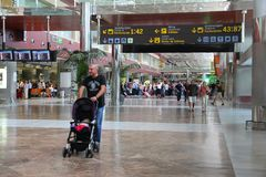 Tenerife South Airport Royalty Free Stock Images