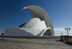 TENERIFE, SPAIN - JANUARY 16: Auditorio de Tenerife on January 1 Royalty Free Stock Photography