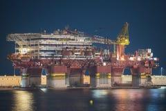TENERIFE, SPAIN - JULY 23: Petrobras oil platform docked at Tene Stock Photos