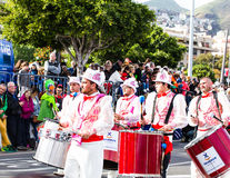 TENERIFE, SPAIN -  MAR 4: In the famous Carnival the Santa Cruz de Tenerife, characters and groups to the rhythm of Royalty Free Stock Photo