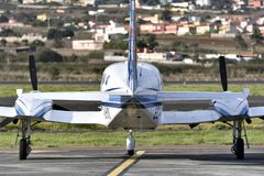 TENERIFE OCTOBER 26: Small plane in parking, October 26, 2017, T Stock Photography