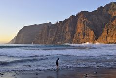 Cliffs of Giants Tenerife Canary Islands royalty free stock image