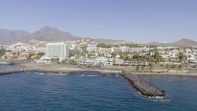 TENERIFE, SPAIN - SEPTEMBER 7, 2016: Aerial view of Playa de las Royalty Free Stock Photos