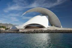 TENERIFE, SPANJE - JANUARI 16: Auditorio DE Tenerife op 1 Januari Stock Afbeeldingen