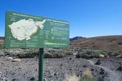 Tenerife spårningöversikt Arkivbild