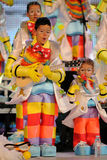 TENERIFE, STYCZEŃ 23: Charaktery i grupy w karnawale Fotografia Royalty Free