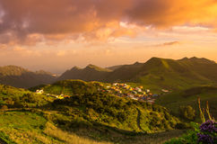 Tenerife on sunset Stock Photos