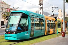 Tenerife tram Royalty Free Stock Photos