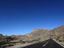 Tenerife ulica w pustyni fotografia royalty free