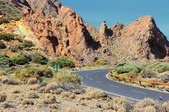 Tenerife väg Arkivfoton