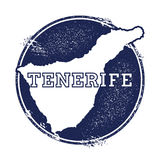 Tenerife vector map. Royalty Free Stock Images