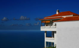 Tenerife Villa Blue. A digital image of a villa on the north coast of Tenerife near Sauzal stock image