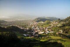 Tenerife, visión abajo al oeste Imagen de archivo