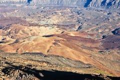 Volcanic caldera. Tenerife - volcanic desert of Teide National Park. Volcano caldera stock photo