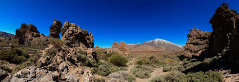Tenerife volcano - El Teide panorama Stock Images