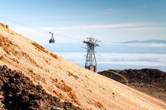Tenerife: wagonu kolei linowej widok Obraz Stock