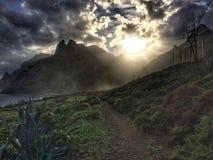 Tenerife, wild coast in Hidalgo Royalty Free Stock Photos