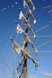 TENERIFE, WRZESIEŃ 13: Meksykański szkolny statek dokował przy portem o Zdjęcie Stock