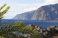 Teneriffa 2010. The rock of Los Gigantos - canary island Stock Images