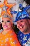 TENERIFFA, AM 10. FEBRUAR: Charaktere und Gruppen im Karneval Stockbilder