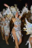 TENERIFFA, AM 10. FEBRUAR: Charaktere und Gruppen im Karneval Lizenzfreies Stockfoto