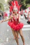 TENERIFFA, AM 28. FEBRUAR: Charaktere und Gruppen im Karneval Lizenzfreie Stockfotos