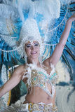 TENERIFFA, AM 28. FEBRUAR: Charaktere und Gruppen im Karneval Lizenzfreies Stockbild