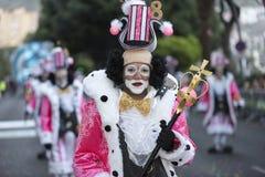 TENERIFFA, AM 28. FEBRUAR: Charaktere und Gruppen im Karneval Lizenzfreie Stockbilder