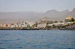 Teneriffa-Küste die Ansicht von der Ozeanseite Lizenzfreie Stockfotografie