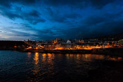 Teneriffa-Landschaft - Costa Adeje-Nacht Stockbilder