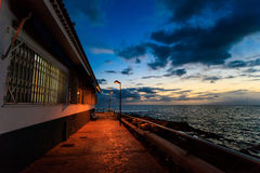 Teneriffa-Landschaft - Costa Adeje-Nacht Lizenzfreies Stockfoto