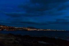 Teneriffa-Landschaft - Costa Adeje-Nacht Lizenzfreies Stockbild