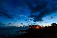Teneriffa-Landschaft - Costa Adeje-Nacht Lizenzfreie Stockfotografie