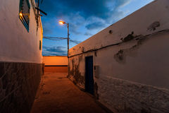 Teneriffa-Landschaft - Costa Adeje-Nacht Lizenzfreie Stockbilder