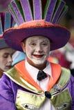 TENERIFFA AM 5. MÄRZ: Viel Spaß an den Karnevalen auf der Straße 5. März 2019 Kanarische Inseln Spanien Teneriffas lizenzfreie stockbilder