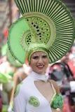 TENERIFFA AM 5. MÄRZ: Viel Spaß an den Karnevalen auf der Straße 5. März 2019 Kanarische Inseln Spanien Teneriffas stockfoto