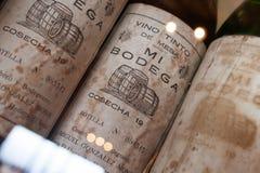 Teneriffa, Spanien, im Januar 2015: Seltene Weinlesesammlung von Monje stockbilder