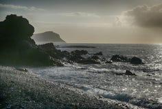 Teneriffa, Szene um Playa Colmenares, Landschaft stockfotografie