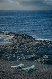Teneriffa, Szene um Playa Colmenares, Landschaft stockbild