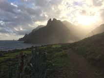 Teneriffe island with rough coast Royalty Free Stock Image