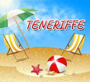 Teneriffe Vacations Represents Summer Time And Beaches Royalty Free Stock Photo