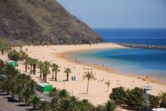 Teneryfa na plaży Zdjęcia Stock