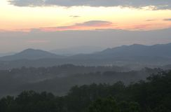 Tenessee Sunrise 1. Tennessee Sunrise over the mountains royalty free stock photo