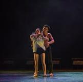 Tenez dessus la danse moderne d'amour-Le Photo stock