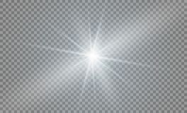 Tenez le premier rôle sur un fond transparent, effet de la lumière, illustration explosion avec des étincelles Photographie stock libre de droits