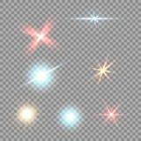 Tenez le premier rôle sur un fond transparent, effet de la lumière, illustration explosion avec des étincelles Photos stock