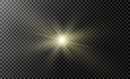 Tenez le premier rôle sur un fond transparent, effet de la lumière, illustration explosion avec des étincelles Image libre de droits