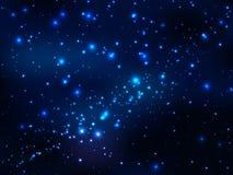 Tenez le premier rôle dans l'espace extra-atmosphérique, ciel de magie de nuit Images libres de droits