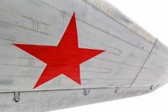 Tenez le premier rôle, le symbole de l'Armée de l'Air russe sur des avions Images libres de droits